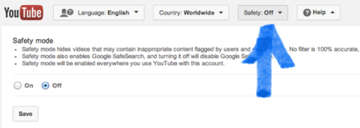 YouTube's Safety Mode lets you filter out most inappropriate videos from searches and suggestions.