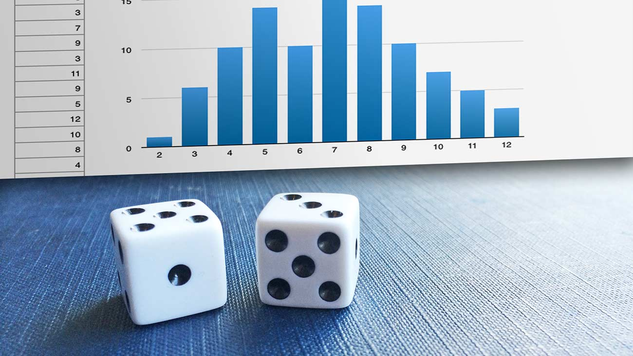 How to Study Probability with Two Dice and a Spreadsheet | Brightpips