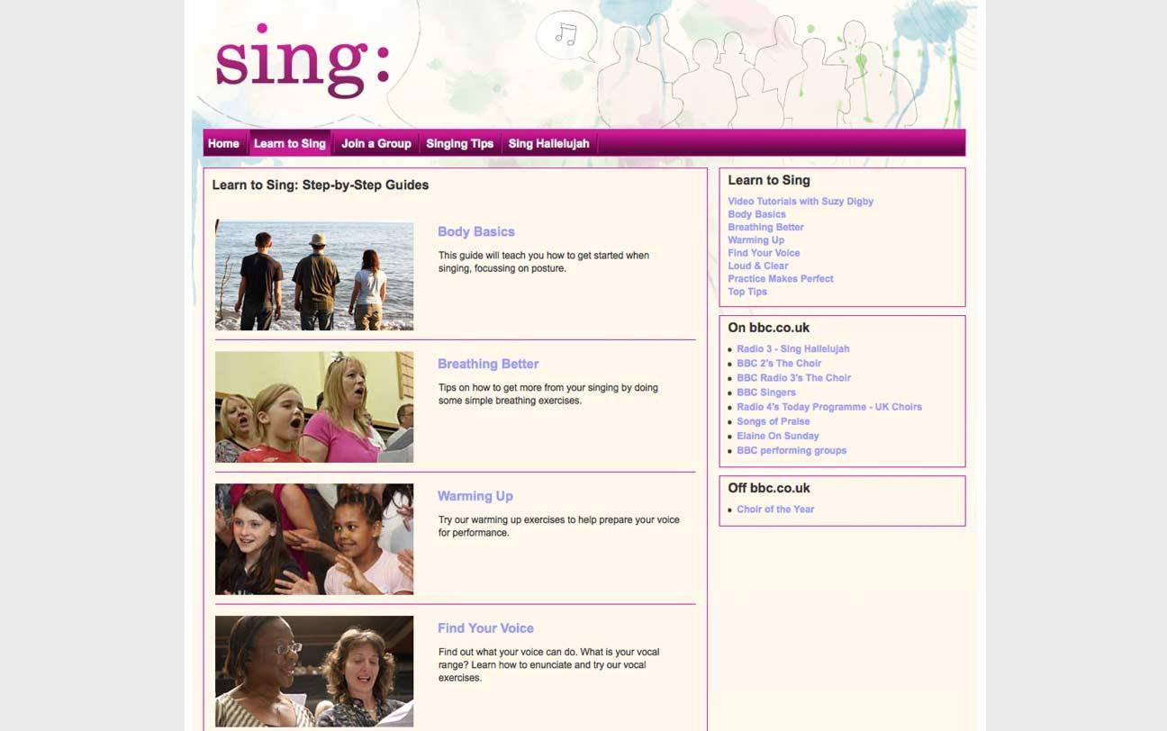 BBC Learn to Sing screenshot