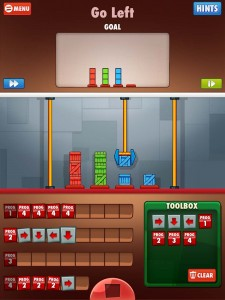 Cargo-Bot is a simple iPad puzzle game that teaches some fundamental programming skills.
