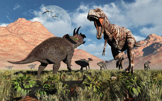 About.com's mini-site on dinosaurs is pretty comprehensive — great if your kid wants to explore dinosaurs in depth.