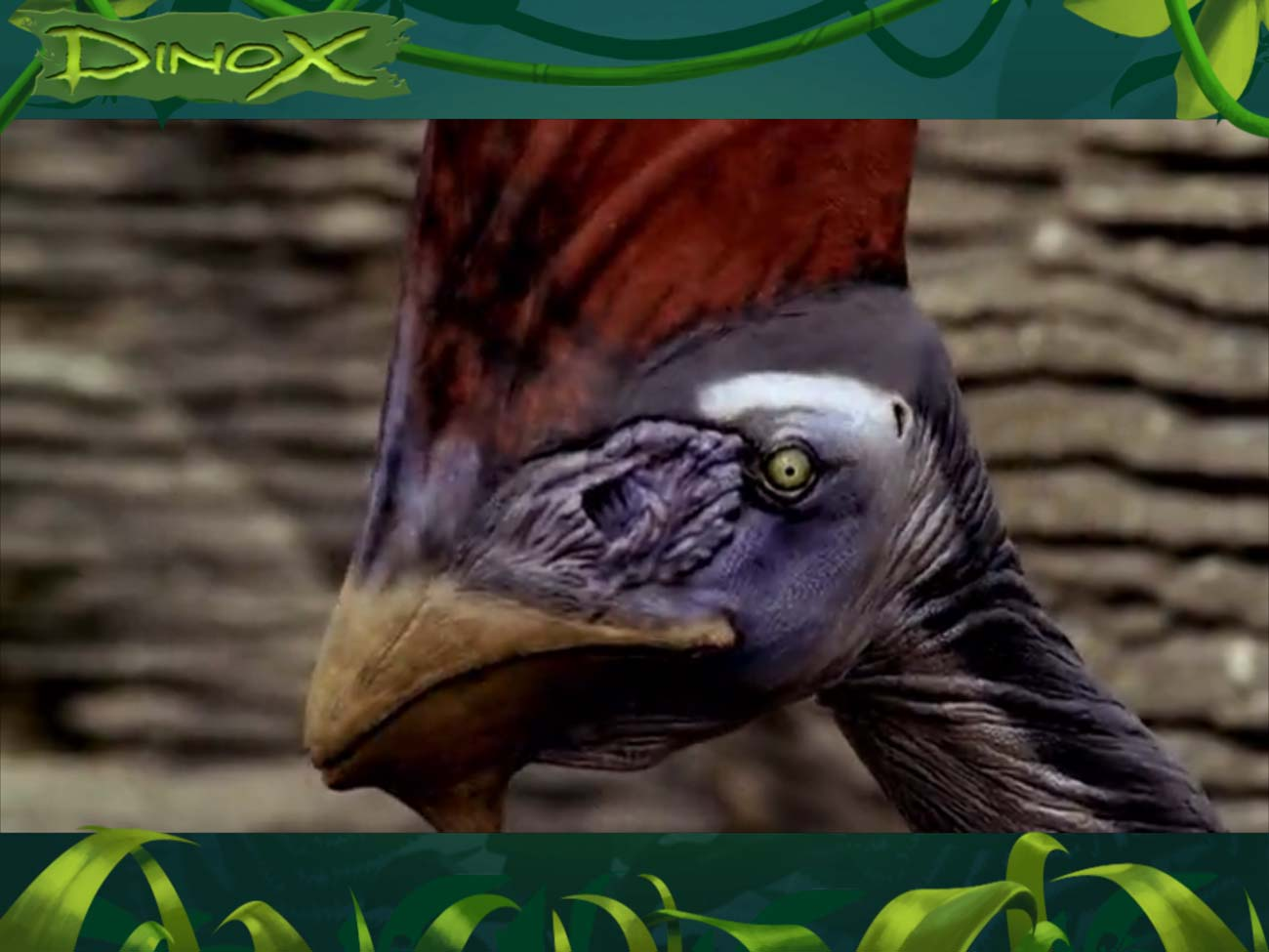 In Dinox, you watch a short video from Walking with Dinosaurs...