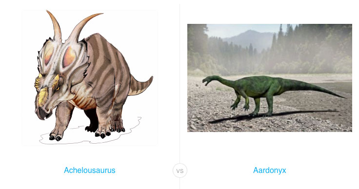 FindTheBest's dinosaur database lets you compare and contrast dinosaurs to your heart's content.