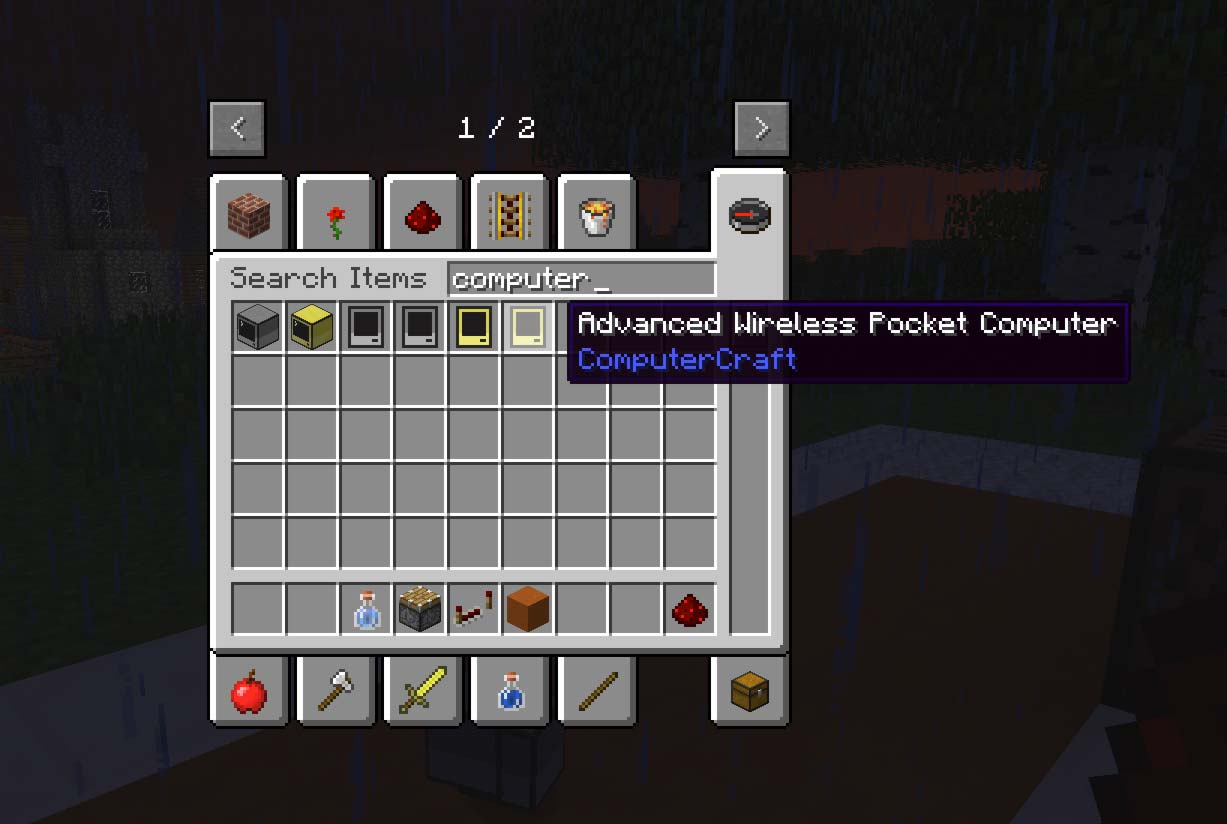 Type 'computer' to find all the ComputerCraft computers in the inventory.