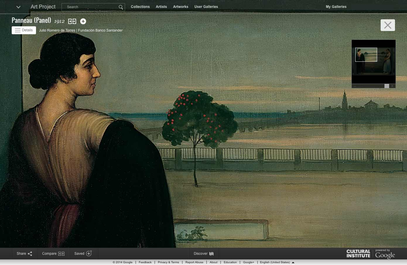 Google Cultural Institute's Art Project contains hundreds of high-resolution artworks from museums all over the world.