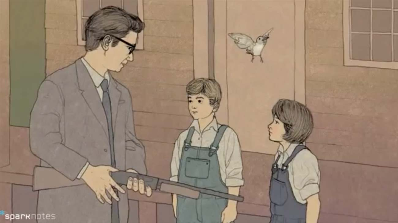 SparkNotes contains study guides in both text and video format, such as this guide for To Kill a Mockingbird.