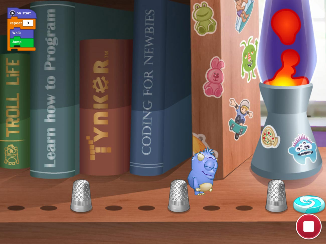 Tynker — another excellent iPad app —lets your kid learn coding skills by solving puzzles.
