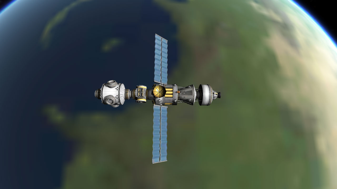 Piecing together the International Space Station, Kerbal Space Program-style.