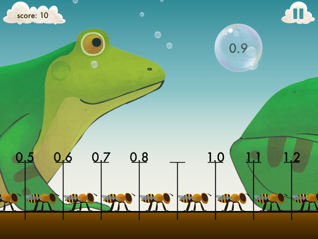 In Motion Math Zoom, you need to place numbers along a draggable, zoomable number line.