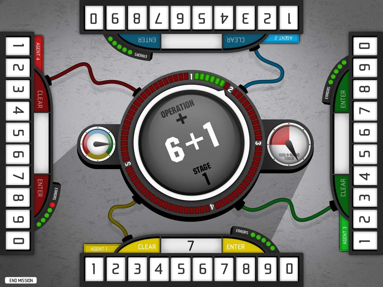 In Operation Math Code Squad, you answer arithmetic questions with up to three other players in order to defuse a series of bombs before the time runs out.
