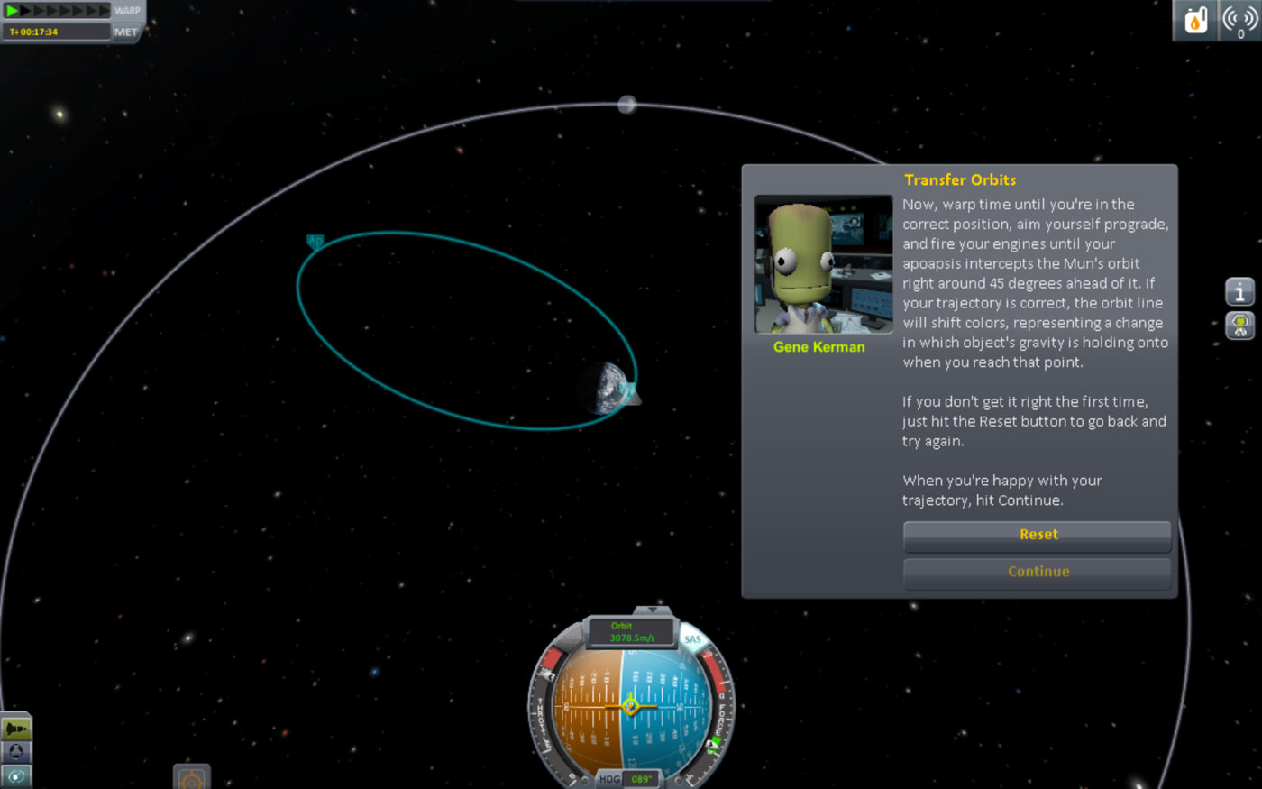 The tutorial on getting to the Mun teaches you about transfer orbits.