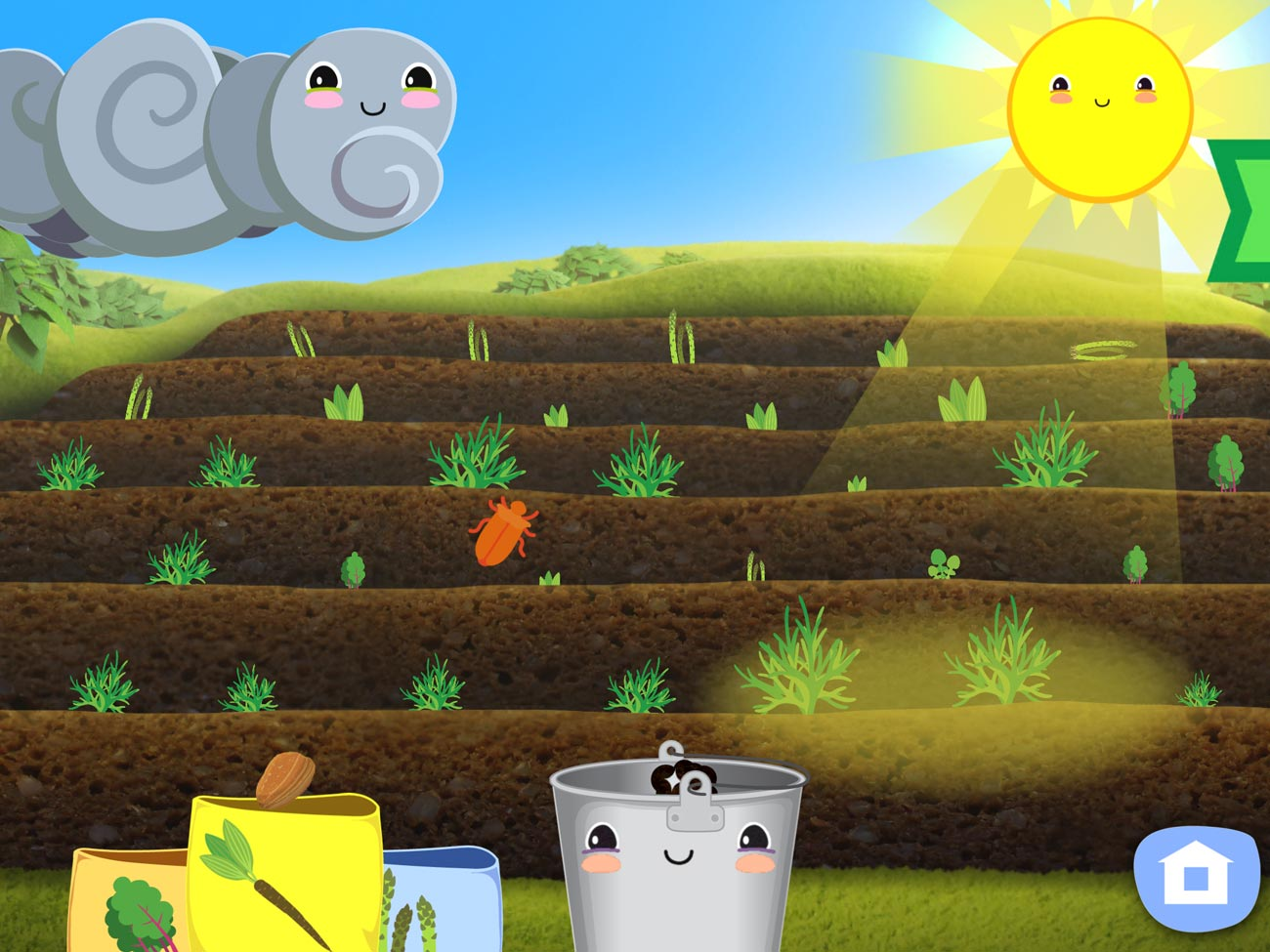 The lovely Gro Garden app lets young kids learn about organic gardening.