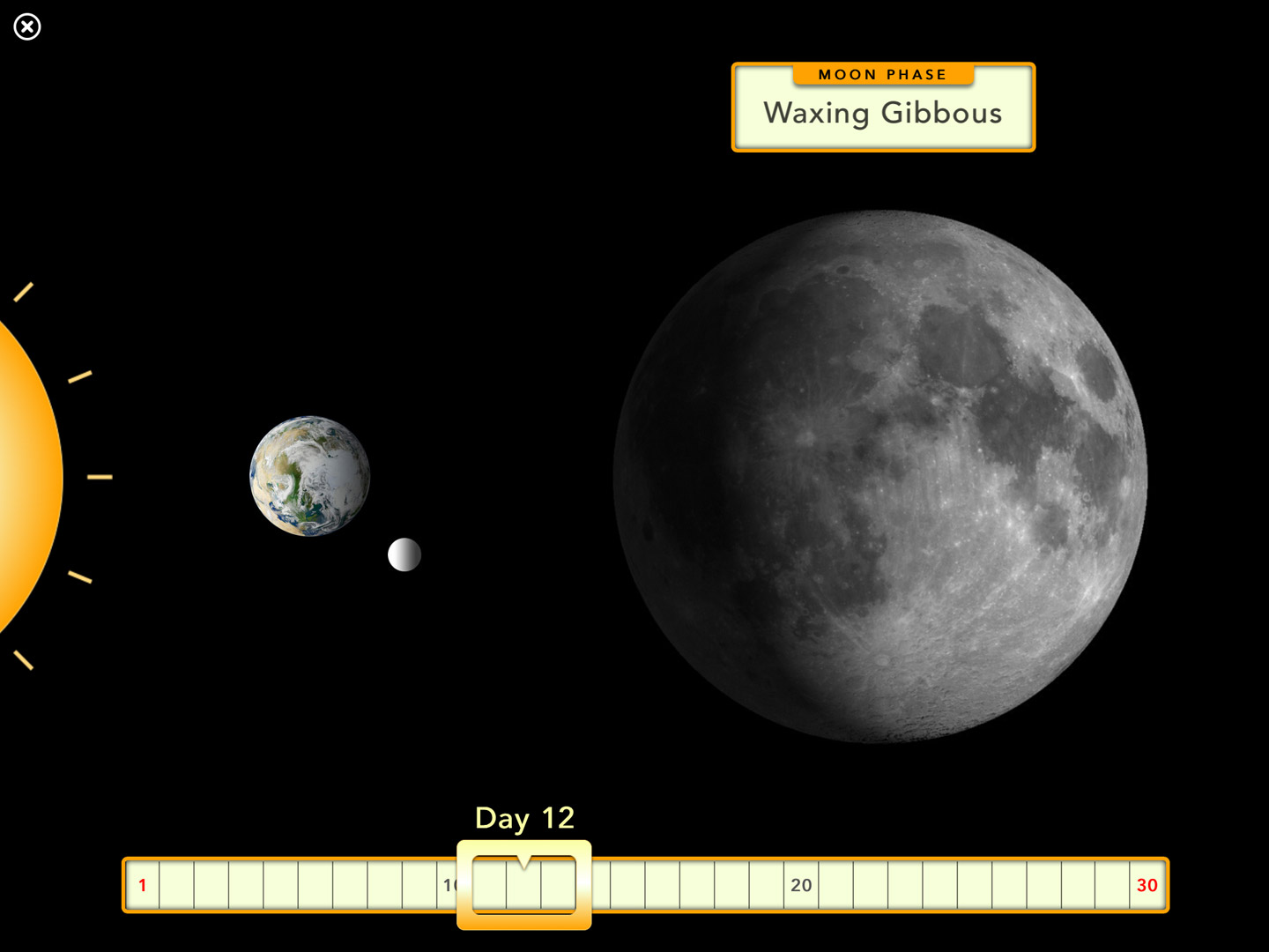 Kids' space book: moon phases