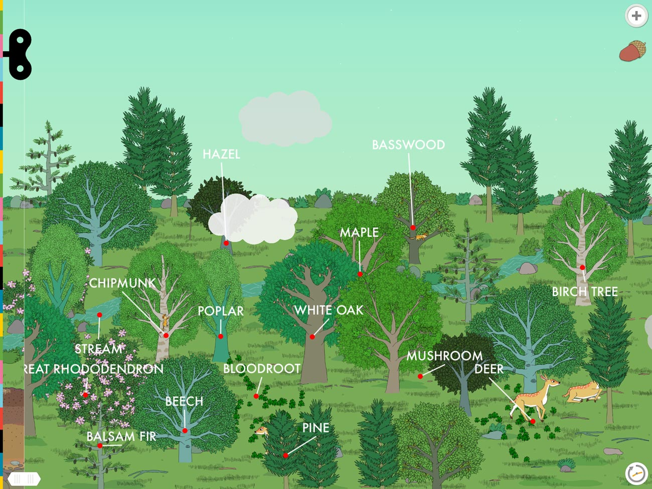 Plants by Tinybop is a beautifully-drawn sandbox app that teaches kids all about plants and biomes.