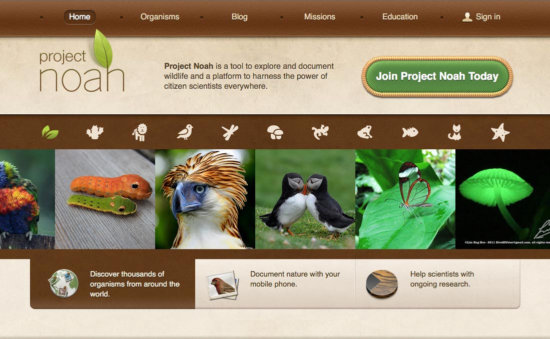 Project Noah is a great way to find out about and document wildlife.