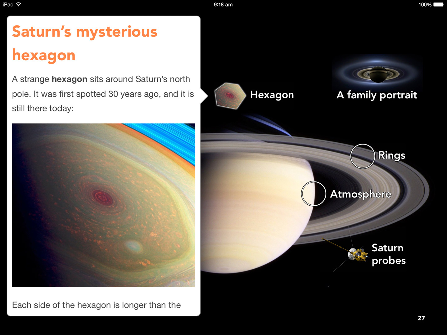 Kids' Space Book: Saturn