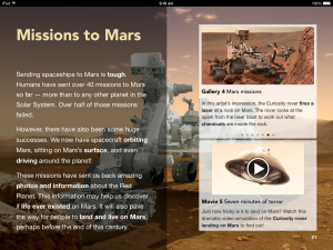 Space - A Brightpips Guide iPad Screenshot - Missions to Mars
